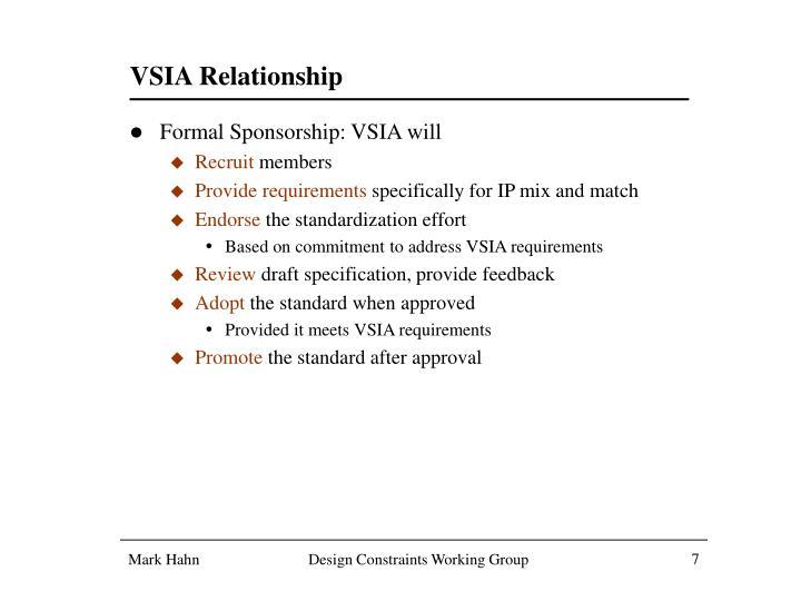 VSIA Relationship