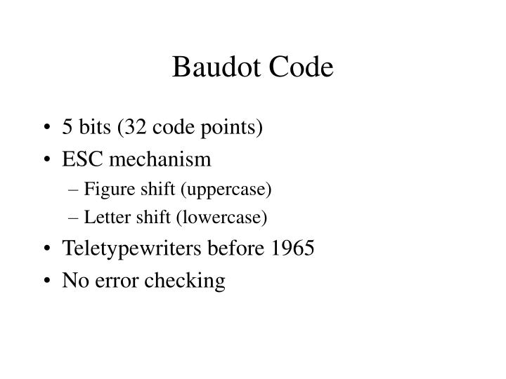 Baudot Code