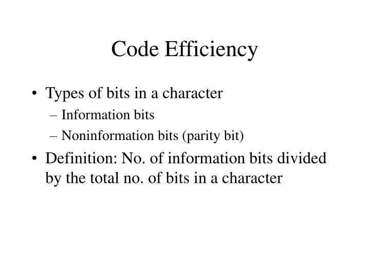 Code Efficiency