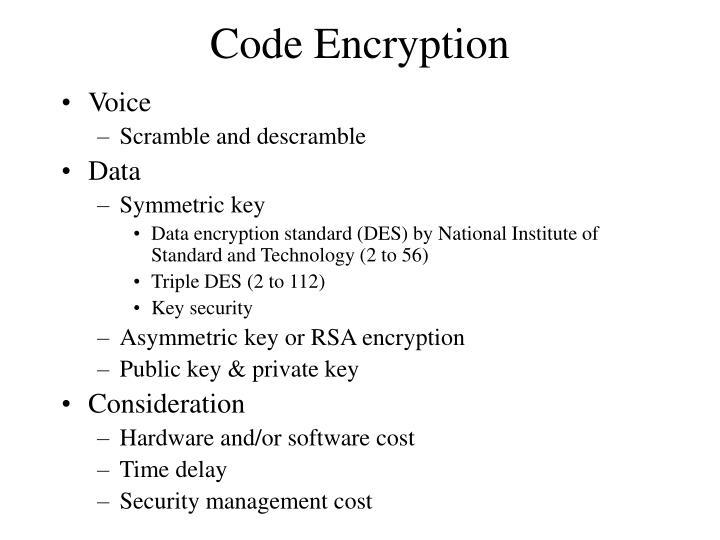 Code Encryption