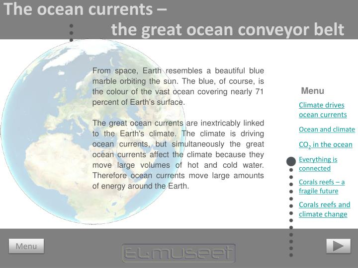 The ocean currents –
