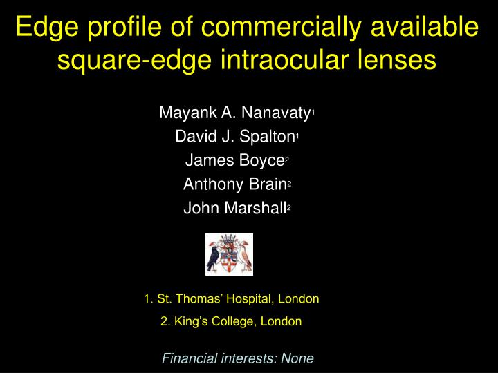 Edge profile of commercially available square-edge intraocular lenses