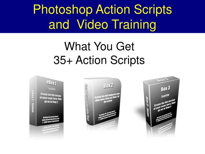 Photoshop action scripts and video training1