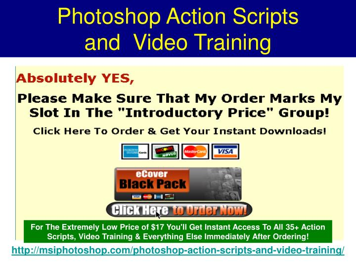 Photoshop Action Scripts