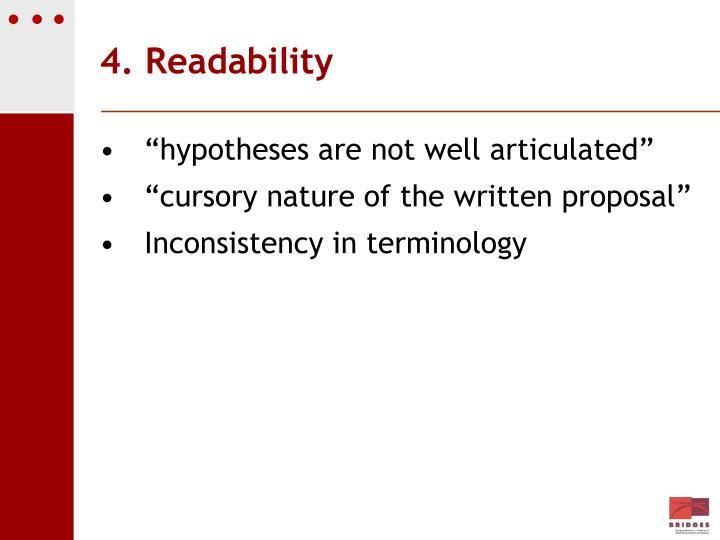 4. Readability