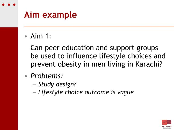 Aim example