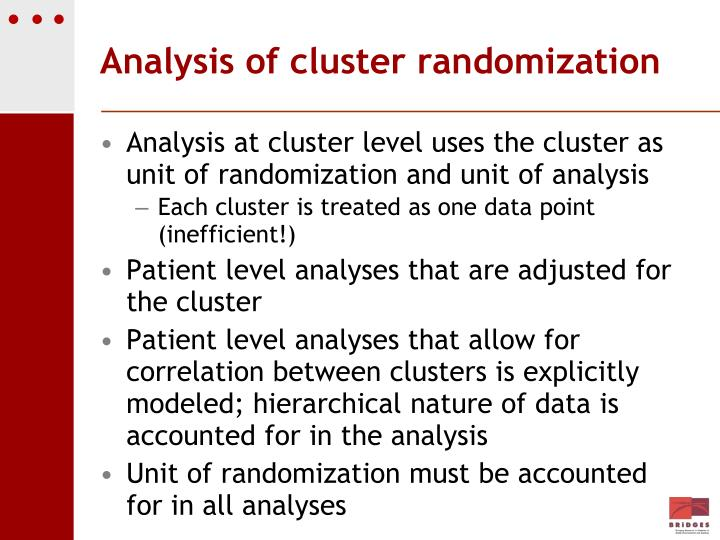 Analysis of cluster randomization