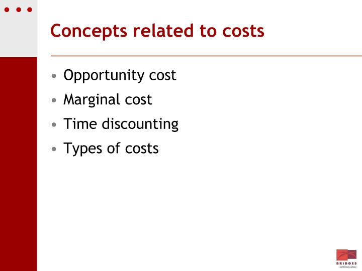 Concepts related to costs