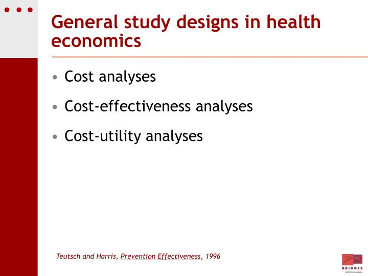General study designs in health economics