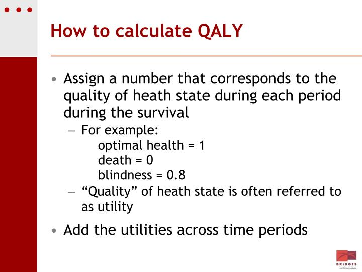 How to calculate QALY