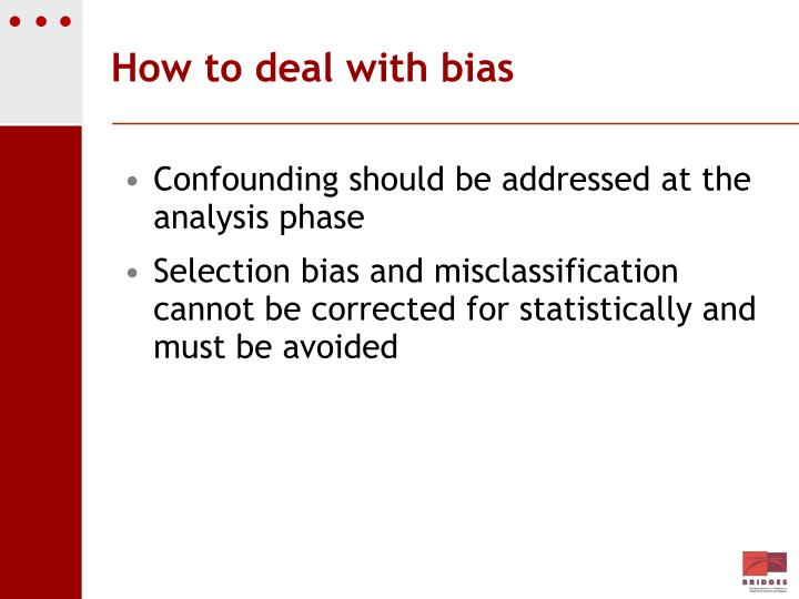 How to deal with bias