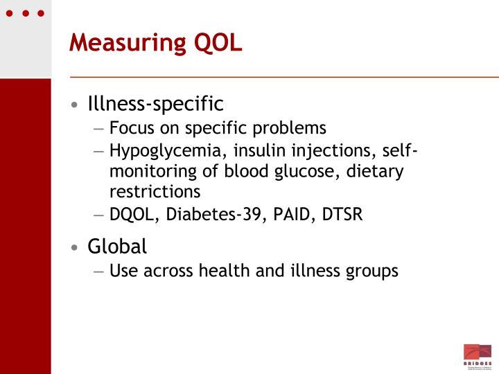 Measuring QOL