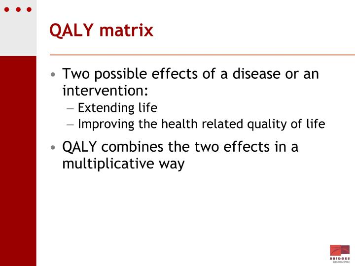 QALY matrix