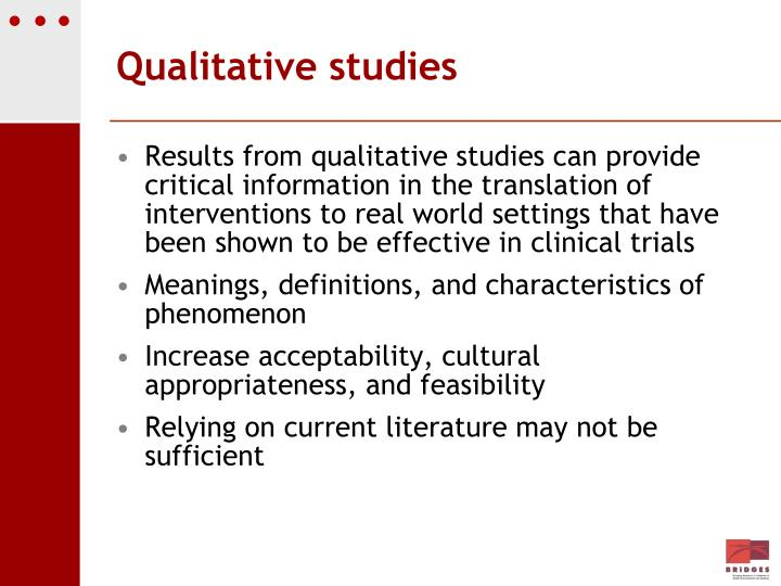 Qualitative studies