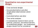 quantitative non experimental designs