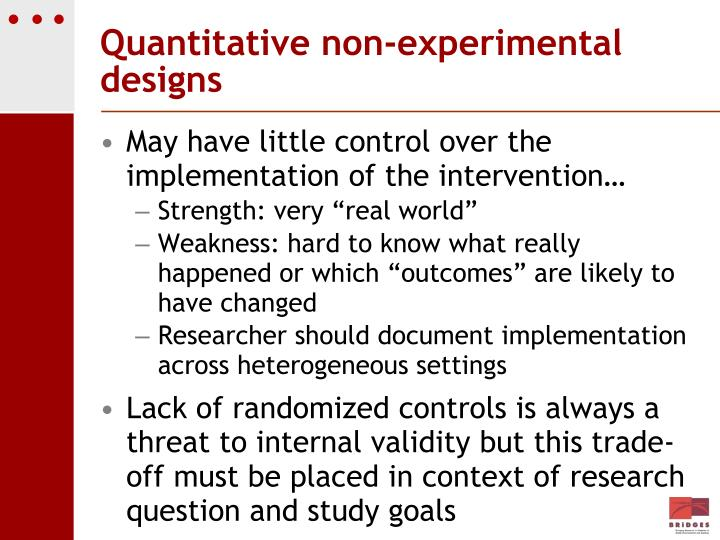 Quantitative non-experimental designs