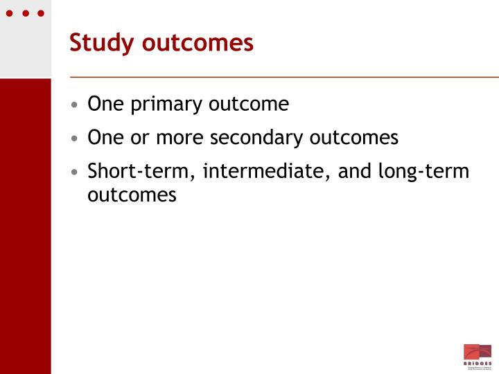 Study outcomes