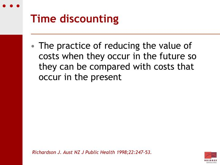 Time discounting