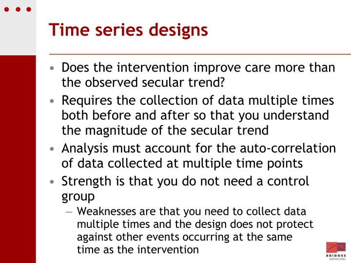 Time series designs