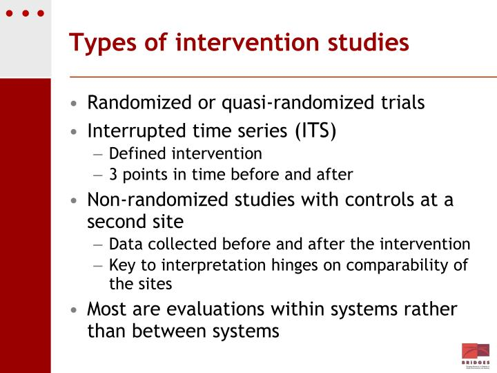 Types of intervention studies