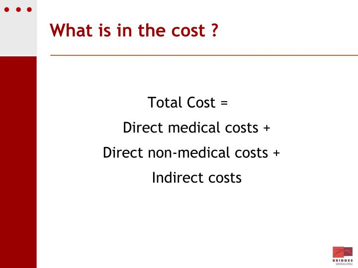 What is in the cost ?