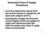 automated class ix supply procedures
