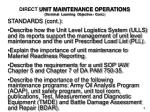 direct unit maintenance operations terminal learning objective cont1