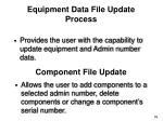equipment data file update process