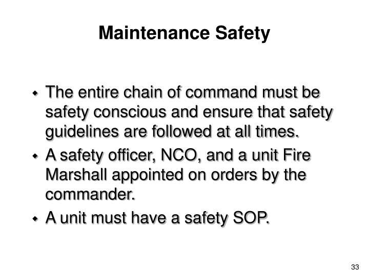 Maintenance Safety
