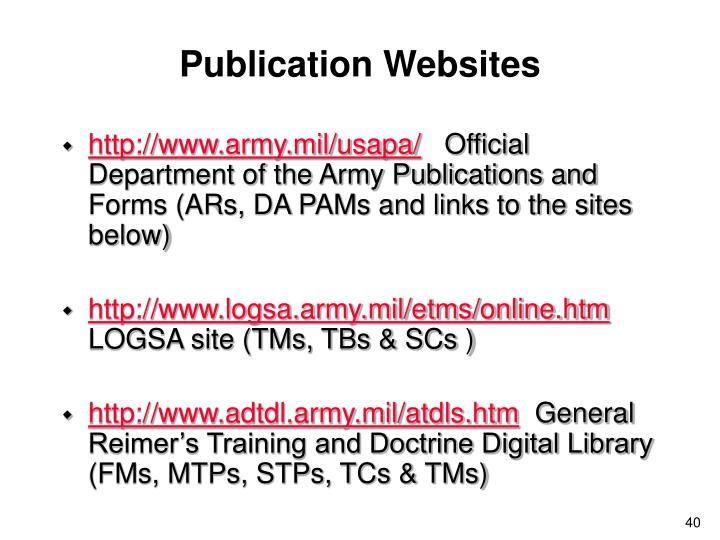 Publication Websites