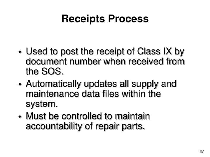 Receipts Process