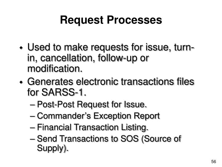 Request Processes
