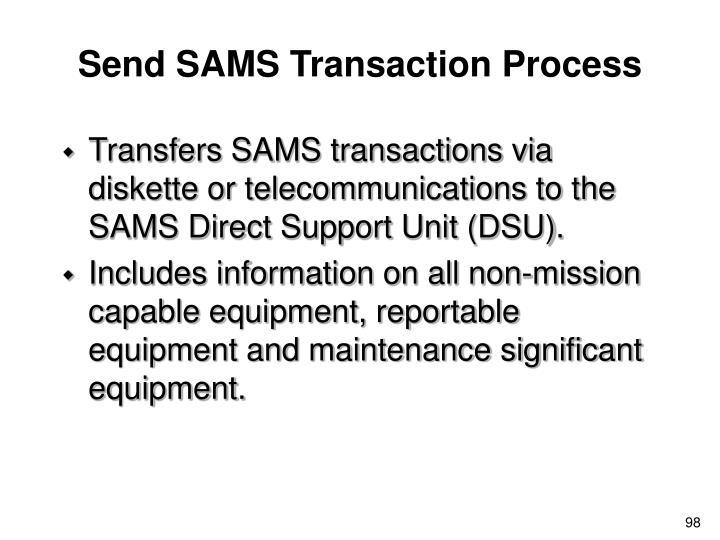 Send SAMS Transaction Process