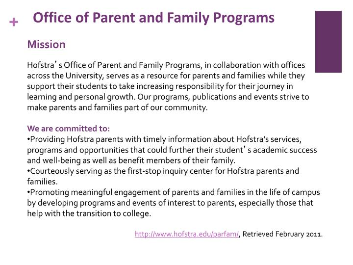 Office of Parent and Family Programs