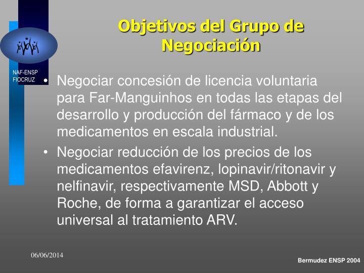 Objetivos del Grupo de Negociación