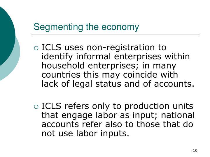 Segmenting the economy