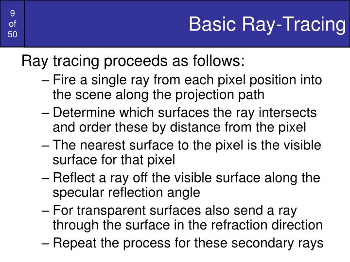 Basic Ray-Tracing