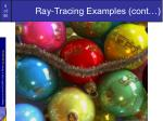 ray tracing examples cont1