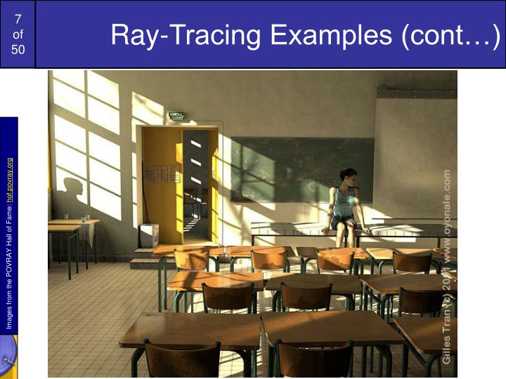 Ray-Tracing Examples (cont…)