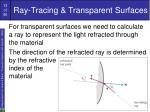 ray tracing transparent surfaces