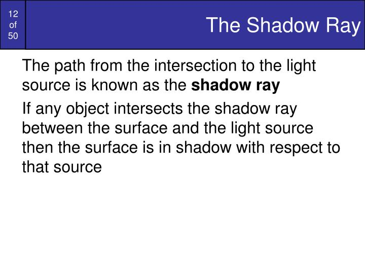 The Shadow Ray