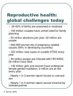 reproductive health global challenges today