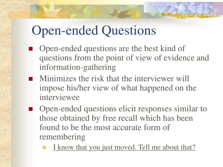Open-ended Questions