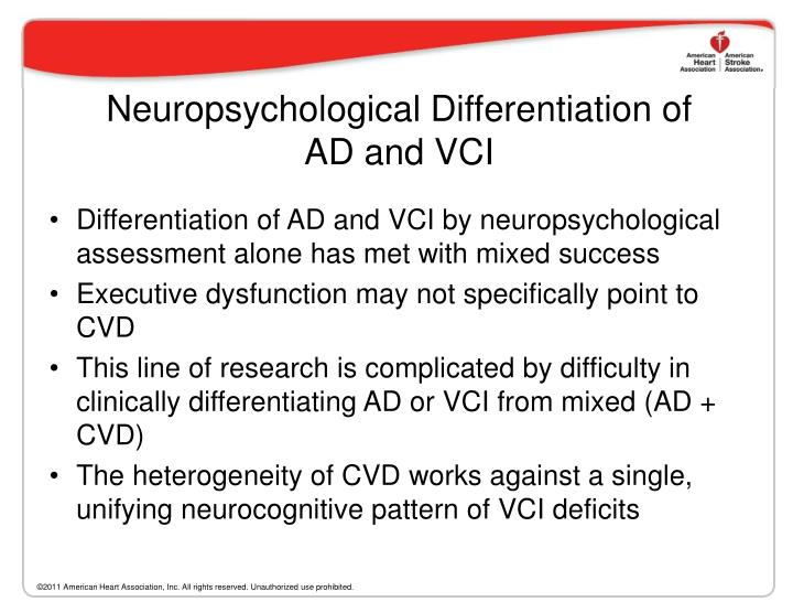 Neuropsychological Differentiation of