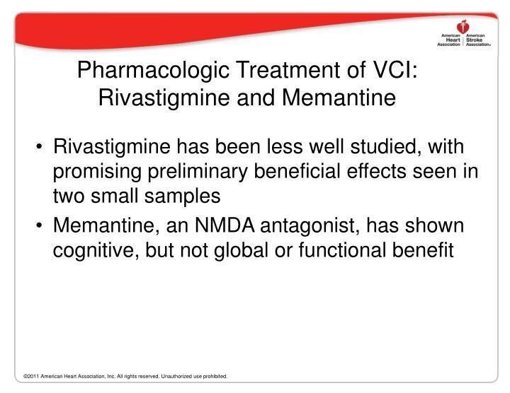 Pharmacologic Treatment of VCI: