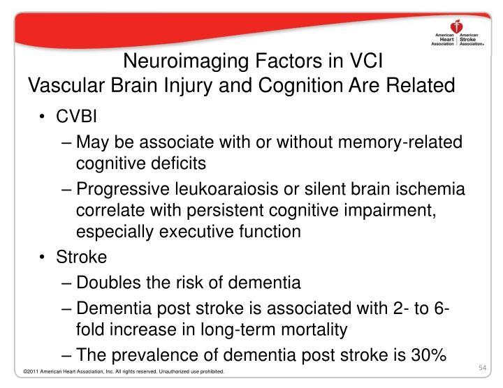 Neuroimaging Factors in VCI