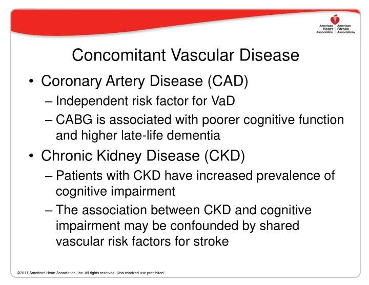 Concomitant Vascular Disease