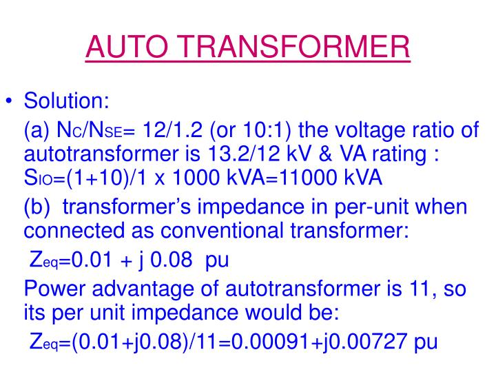 AUTO TRANSFORMER