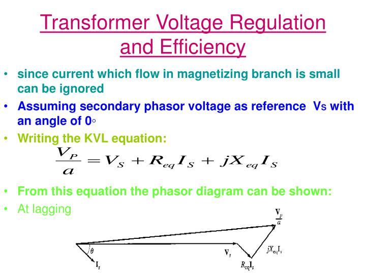 Transformer Voltage Regulation and Efficiency