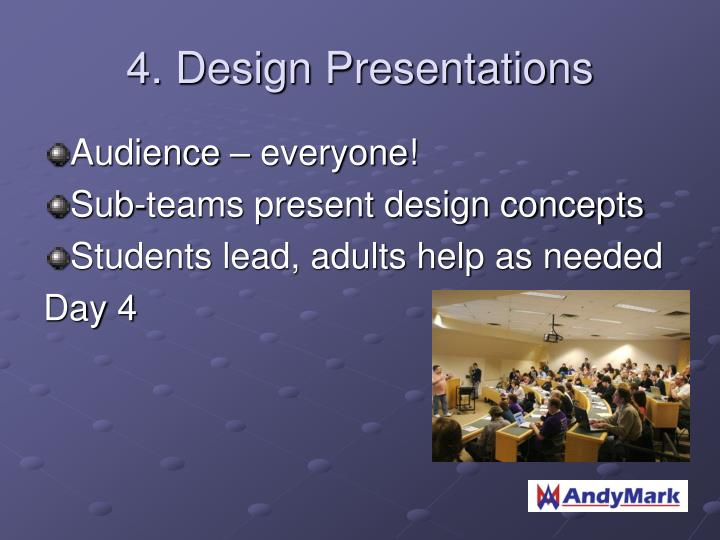 4. Design Presentations
